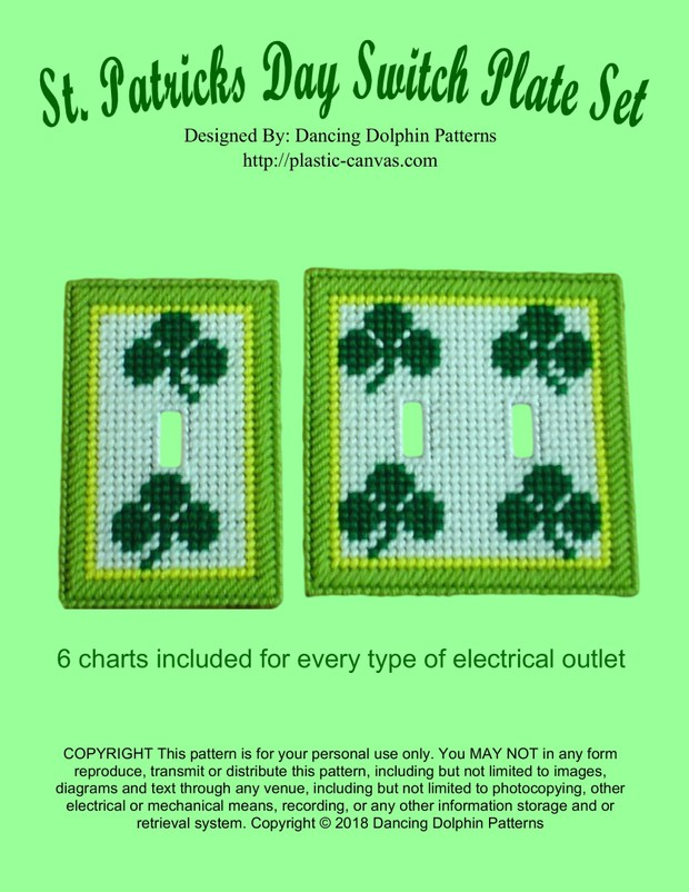 296 - St  Patricks Day Switch Plate Set