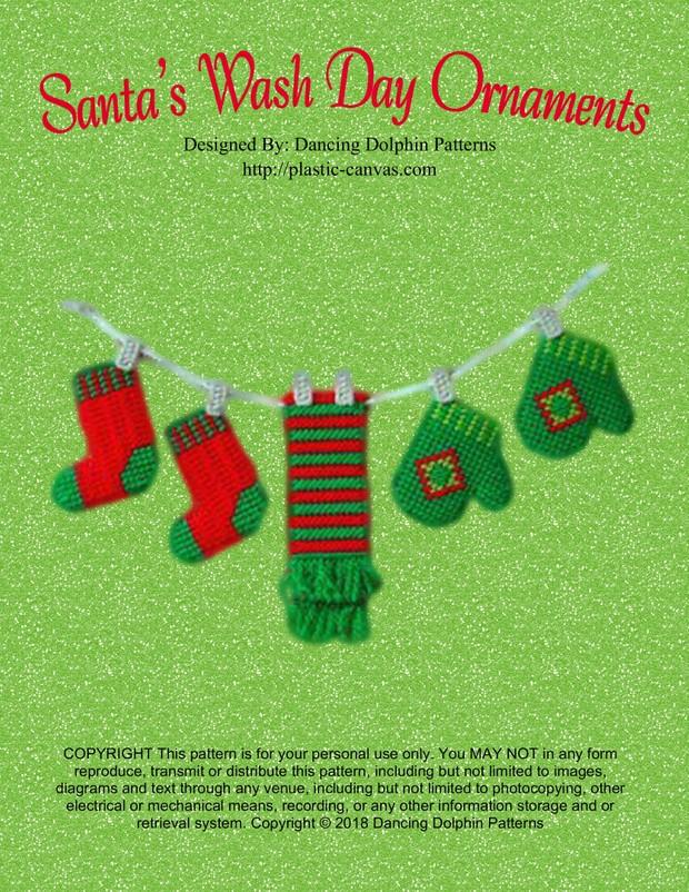 159 - Santa's Wash Day Ornaments