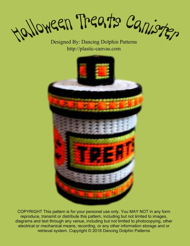 334 - Halloween Treats Canister
