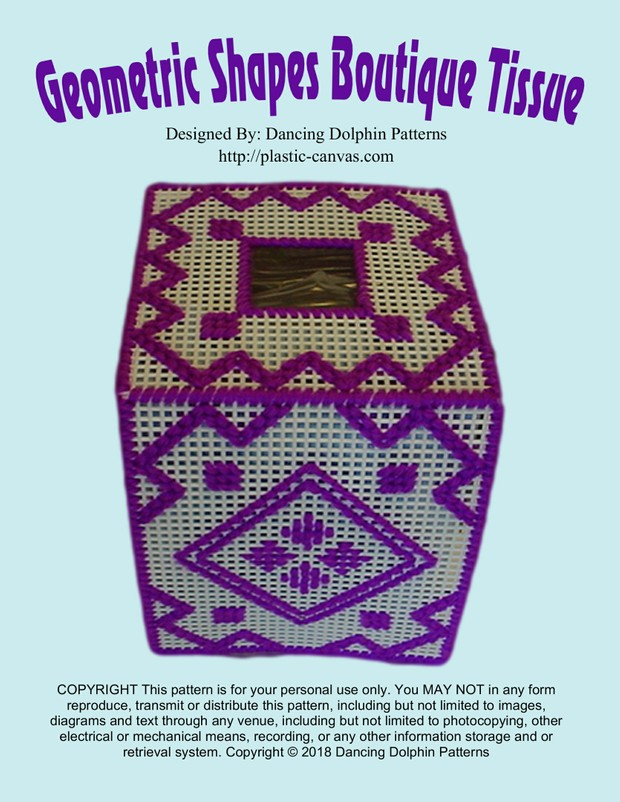 492 - Geometric Boutique Tissue Cover