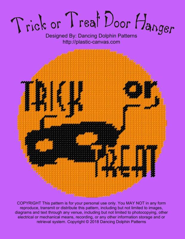 626 - Trick or Treat Door Hanger