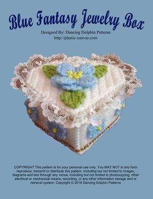 326 - Blue Fantasy Jewelry Box