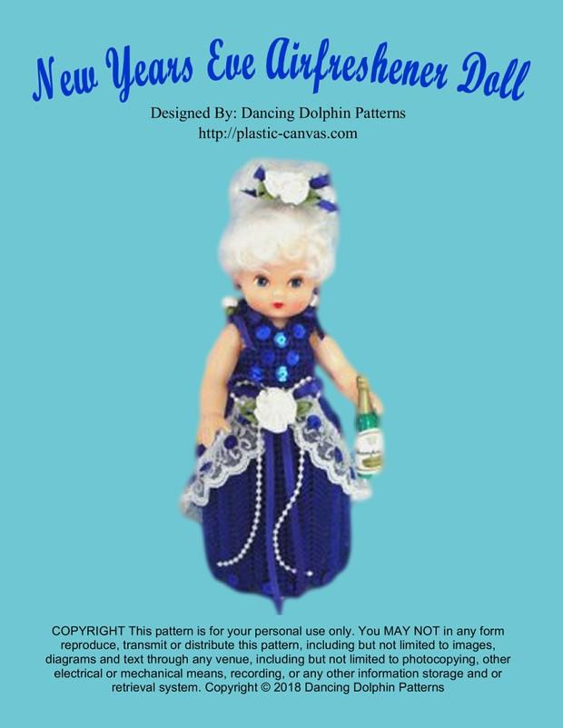 423 - New Years Eve Airfreshener Doll