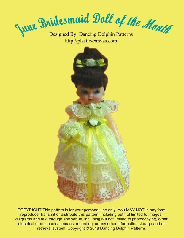 127 - June Bridesmaid Doll of the Month