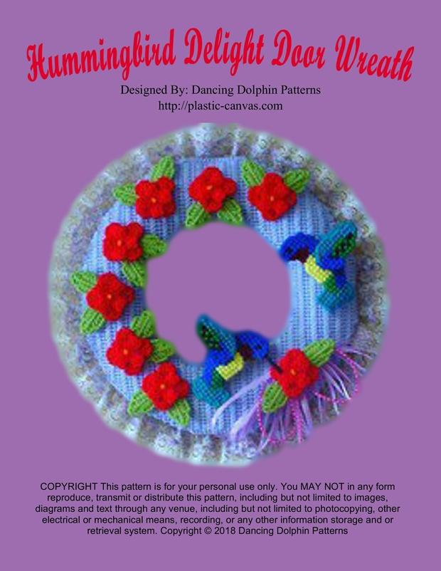 081 Hummingbird Delight Door Wreath Dancing Dolphin Patterns