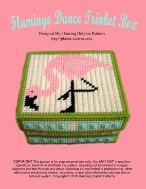 142 - Flamingo Dance Trinket Box