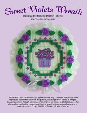 392 - Sweet Violets Wreath