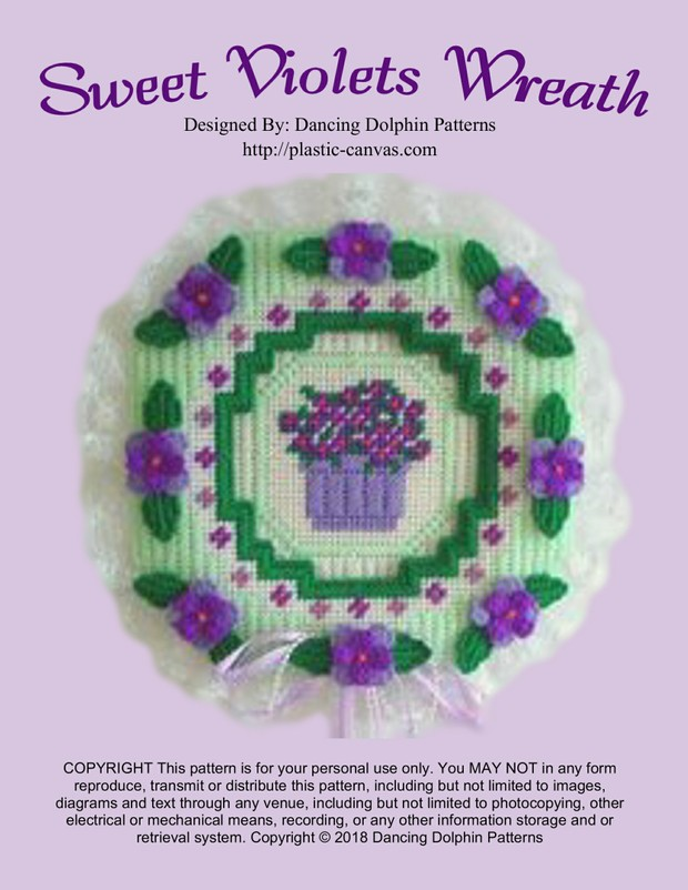 392 - Sweet Violets Wreath