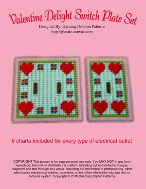 295 - Valentine Delight Switch Plate Set