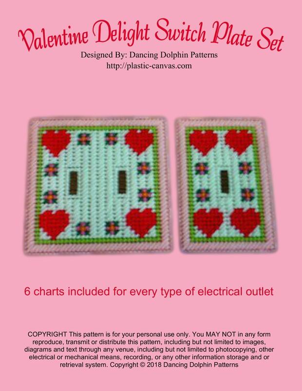 295 - Valentine Delight Switch Plate Set