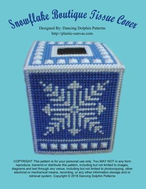 341 - Snowflake Boutique Tissue Cover
