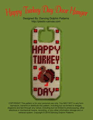 330 - Happy Turkey Day Door Hanger