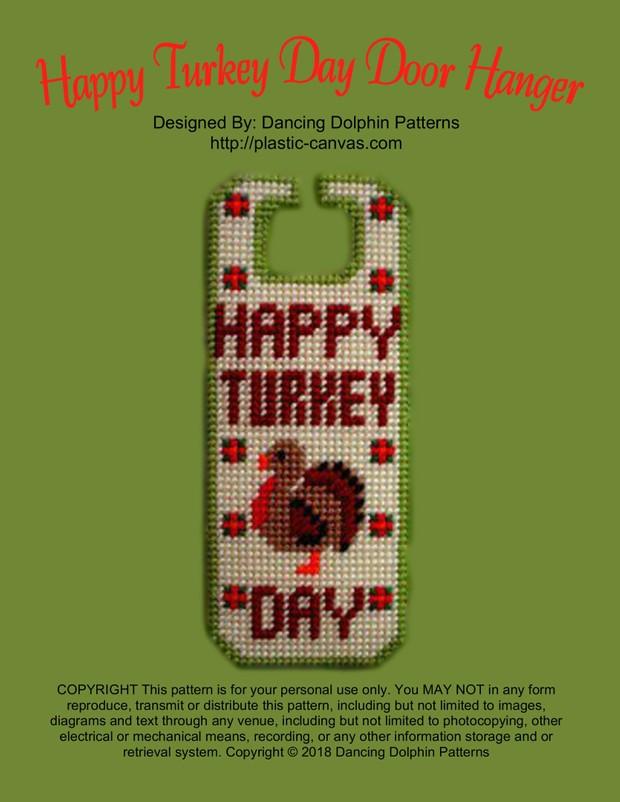 330 - Happy Turkey Day Door Hanger