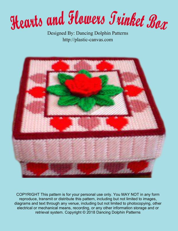 026 - Hearts and Flowers Trinket Box