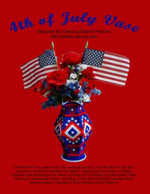 082 - 4th of July Vase