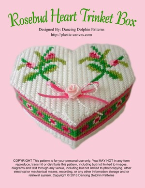 359 - Rosebud Heart Trinket Box