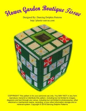 477 - Flower Garden Boutique Tissue Cover