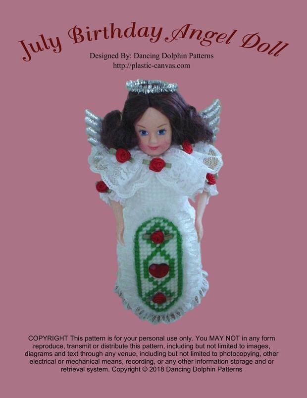 442 - July Birthday Angel Doll