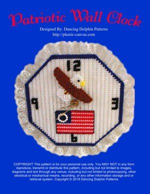 111 - Patriotic Wall Clock