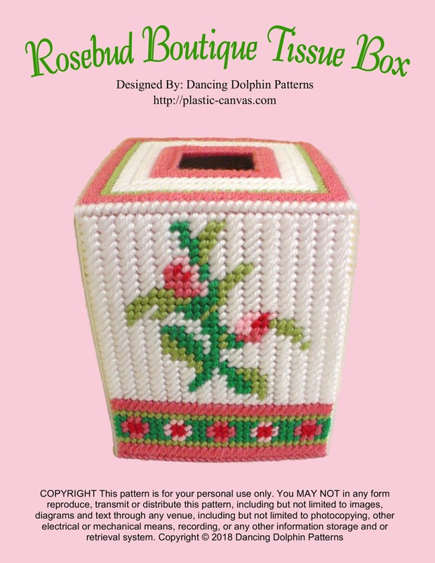 265 - Rosebud Boutique Tissue Box