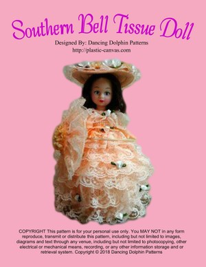 157 - Southern Bell Tissue Doll