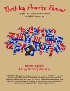 083 - Birthday America Banner