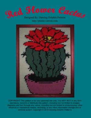 518 - Red Flower Cactus
