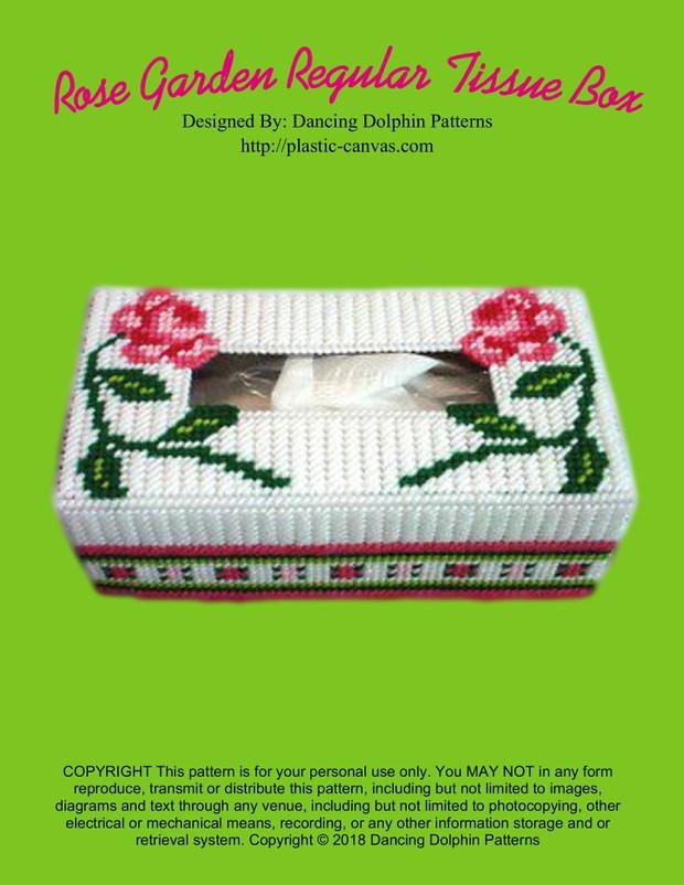 108 - Rose Garden Regular Tissue Box