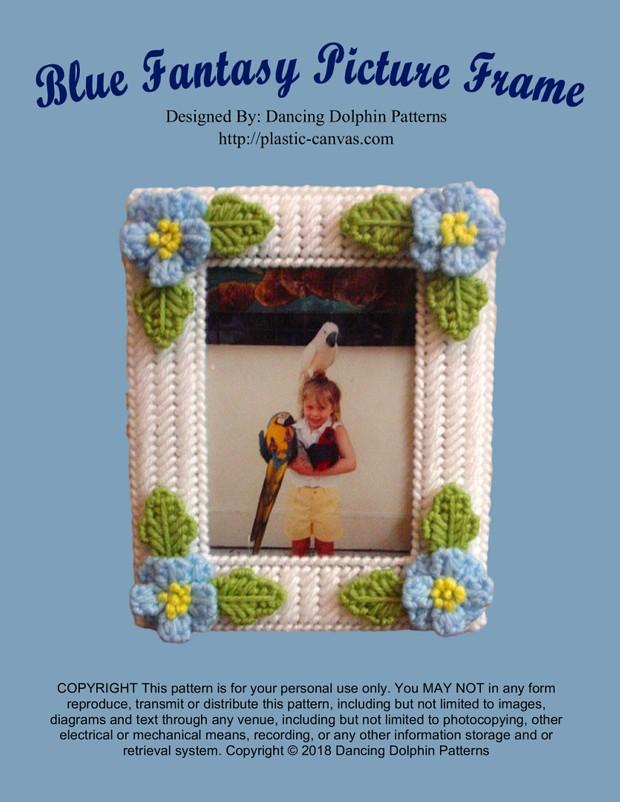 309 - Blue Fantasy Picture Frame