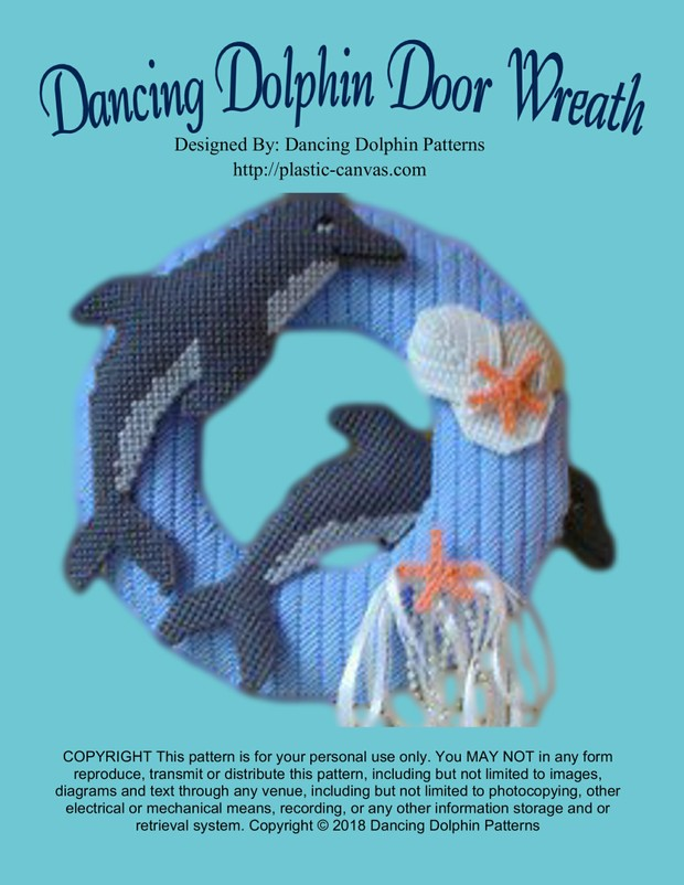 002 - Dancing Dolphin Door Wreath