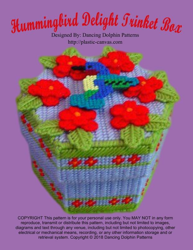 022 - Hummingbird Delight Trinket Box