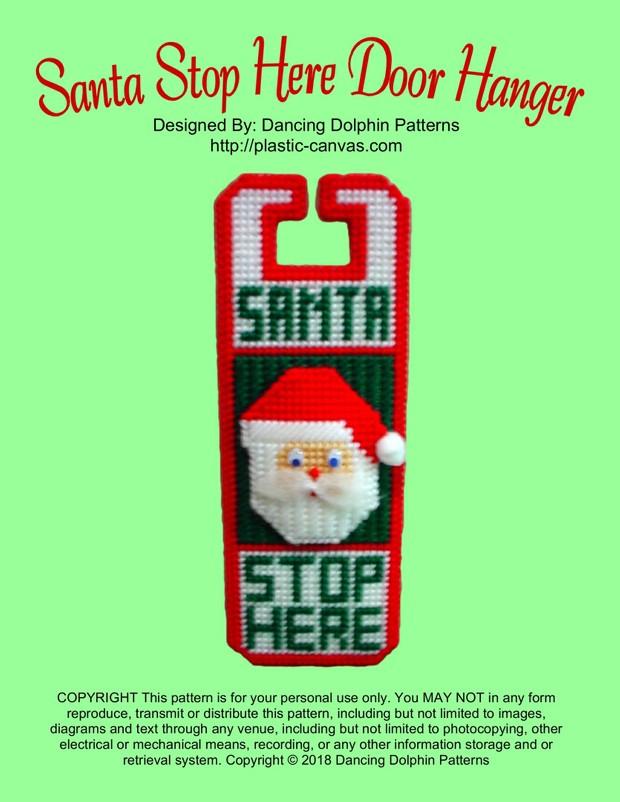 261 - Santa Stop Here Door Hanger