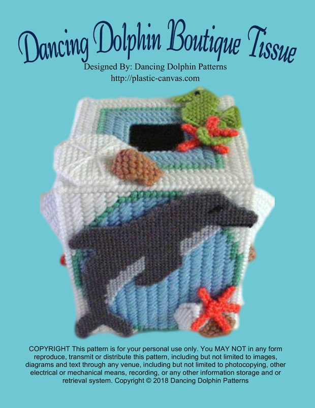 004 - Dancing Dolphin Boutique Tissue Box