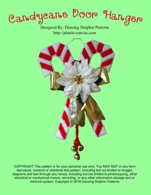 277 - Candy Cane Door Hanger