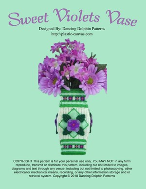 368 - Sweet Violets Vase