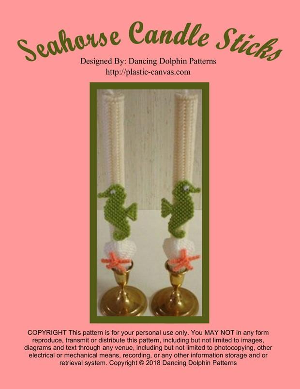 241 - Seahorse Candle Sticks