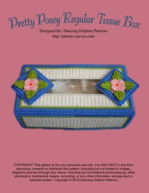 098 - Pretty Posey Regular Tissue Box