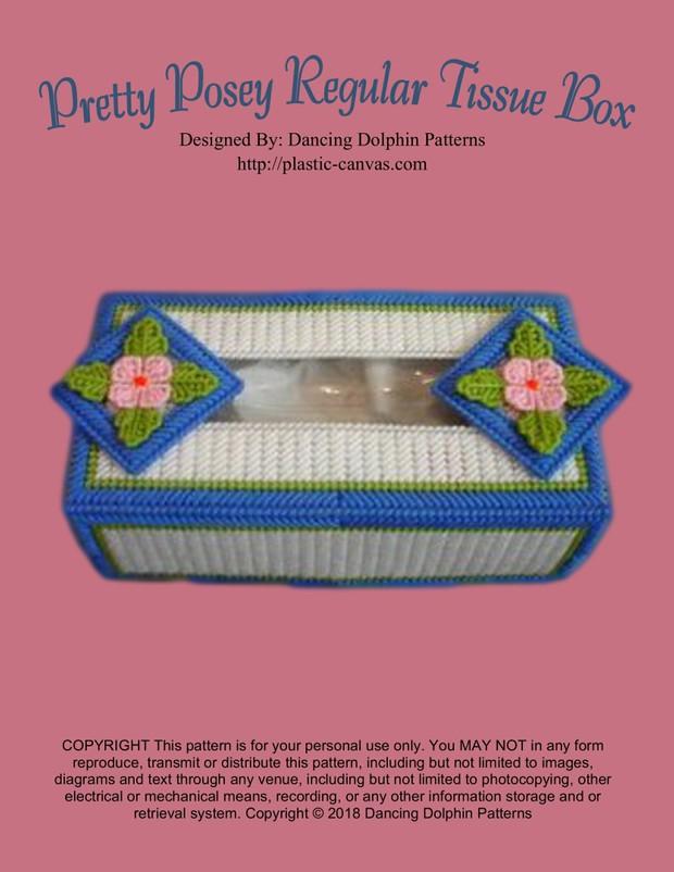 098 - Pretty Posey Regular Tissue Box