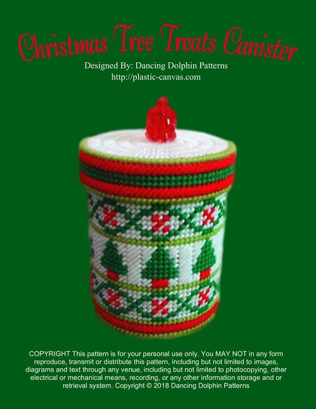 255 - Christmas Tree Treats Canister
