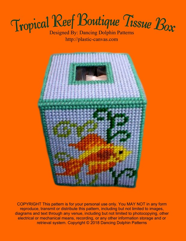 044 - Tropical Reef Boutique Tissue Box