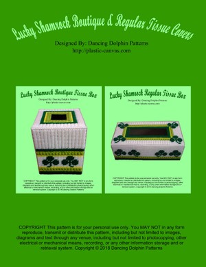 Lucky Shamrock Boutique & Regular Tissue Covers