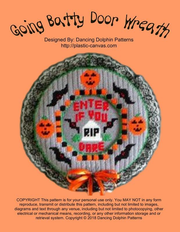 383 - Going Batty Door Wreath