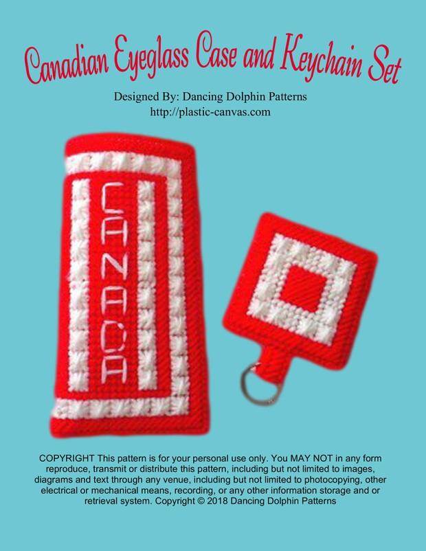 367 - Canadian Eyeglass Case and Keychain Set