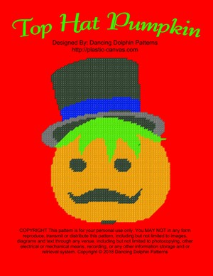 593 - Top Hat Pumpkin