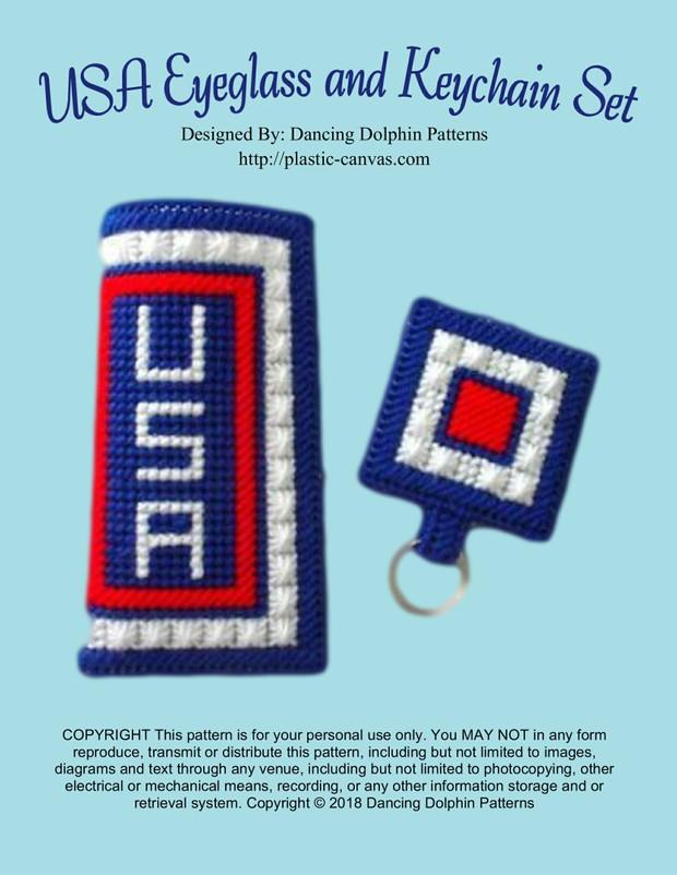 356 - USA Eyeglass and Keychain Set