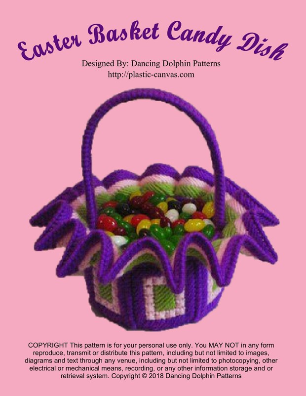 223 - Easter Basket Candy Dish