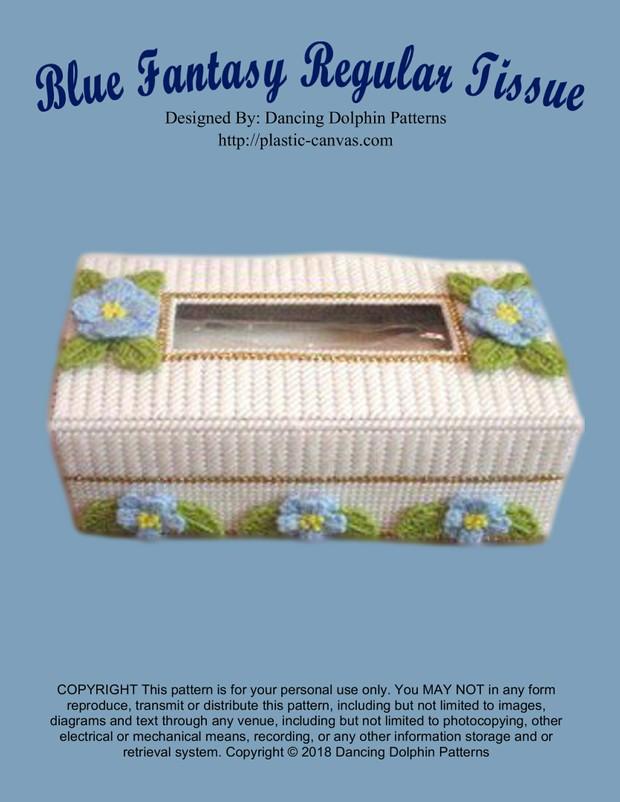 137 - Blue Fantasy Regular Tissue