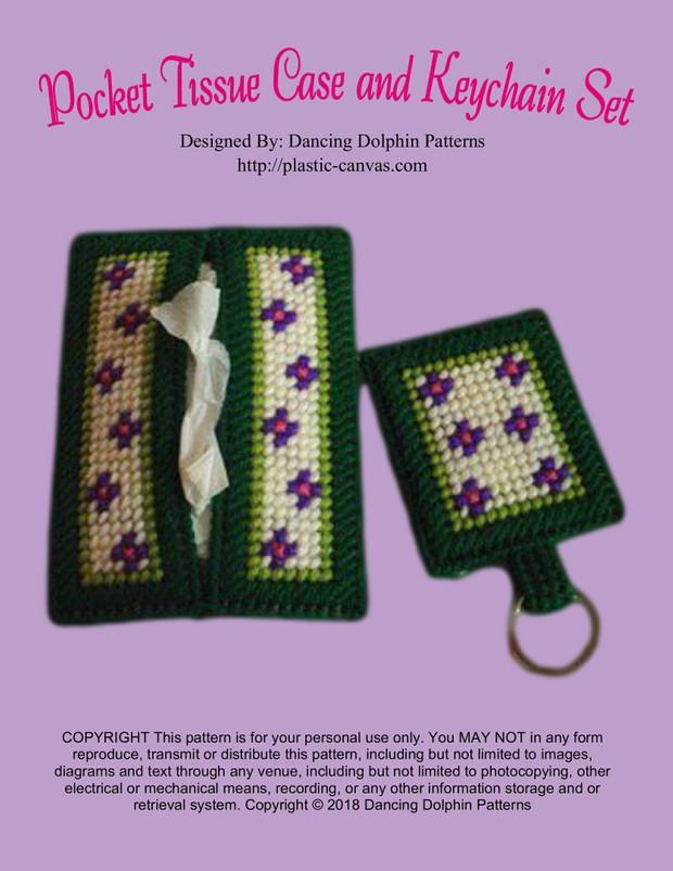 304 - Pocket Tissue Case and Keychain Set