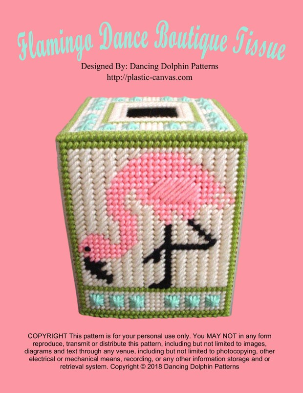 331 - Flamingo Dance Boutique Tissue