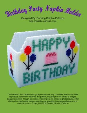 364 - Birthday Party Napkin Holder